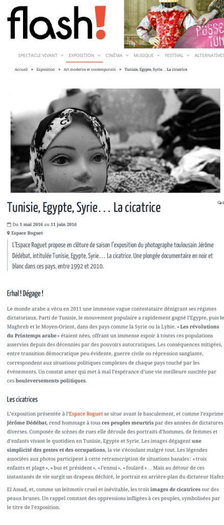Tunisie, Egypte, Syrie... La cicatrice | Flash ! hebdo